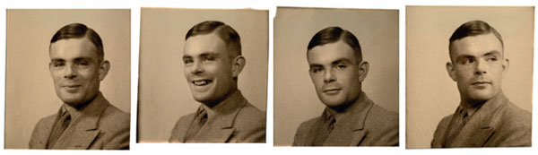 Cuatro imgenes de Alan Turing
